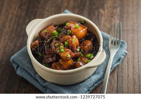 Chinese traditional cuisine, braised pork