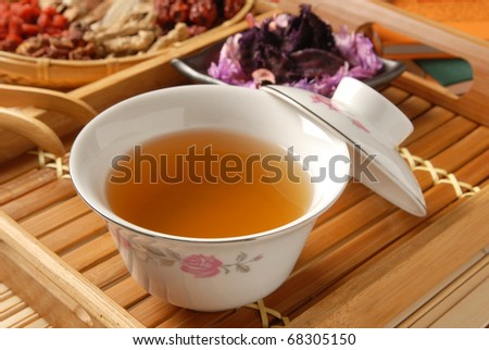 Chinese traditional herbal tea and herbs