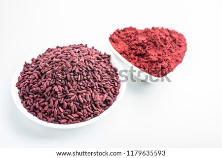 Chinese traditional natural pigment food red yeast rice #1179635593