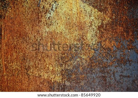 chipped paint on rusty texture, grunge metal background