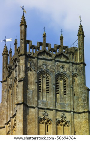 chipping campden village the cotswolds gloucestershire england st james wool church