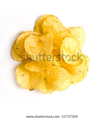 chips are isolated white for your illyustracciy