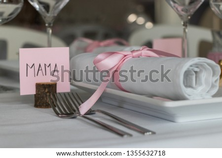 Chique dining decoration for mama / mothersday  Foto stock ©
