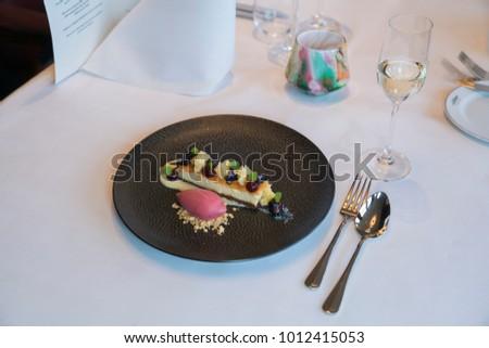 chique dinner and desert Foto stock ©