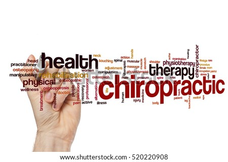 Chiropractic word cloud concept