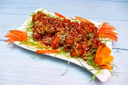 chirspy chili babycorn is a Chinese recipie.