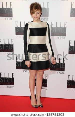 Chloe Moretz arriving at the 2013 Elle Style Awards, at The Savoy, London. 11/02/2013 Picture by: Steve Vas