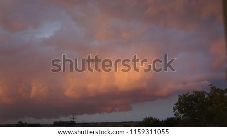 chmura krajobraz burza Zdjęcia stock ©