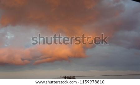 chmura obłok widok Zdjęcia stock ©
