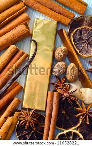 chocolate and aroma spice