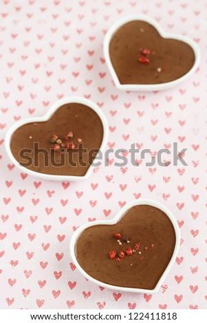 Chocolate and pepper dessert