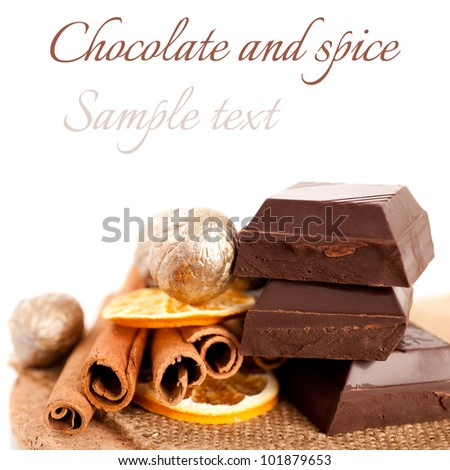 Chocolate and spice