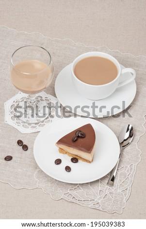 Chocolate And Toffee Cheese Cake. Irish Cream Or Coffee Liquor ...