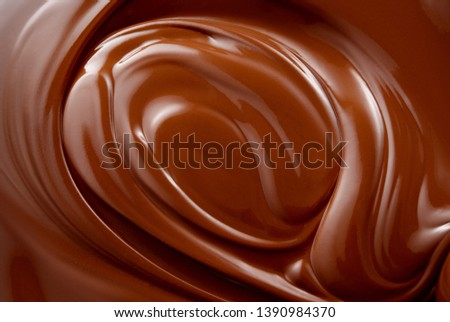 Chocolate background. Chocolate.  Melted chocolate. #1390984370