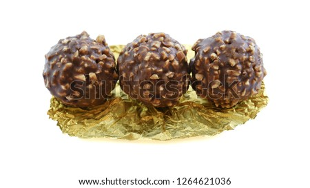Chocolate ball in the milk produced in Italy. Photo stock ©