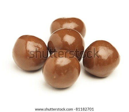 chocolate ball isolated on a white background