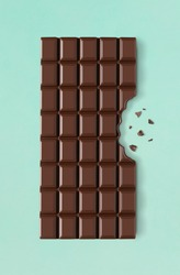 Chocolate bar with missing bite