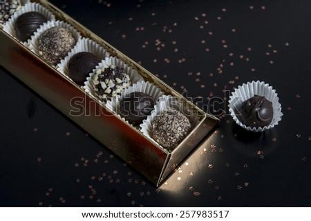 Chocolate bonbons gift box / Chocolate sweets box / Chocolate candy gift box