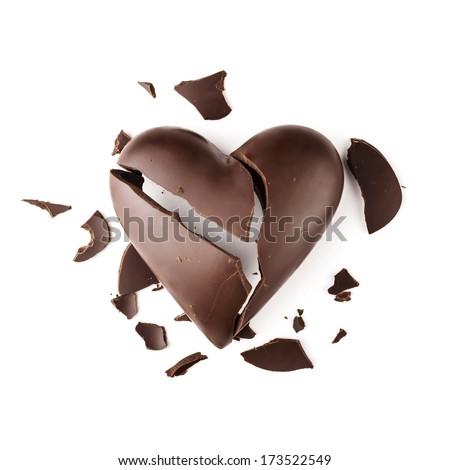Chocolate broken heart #173522549
