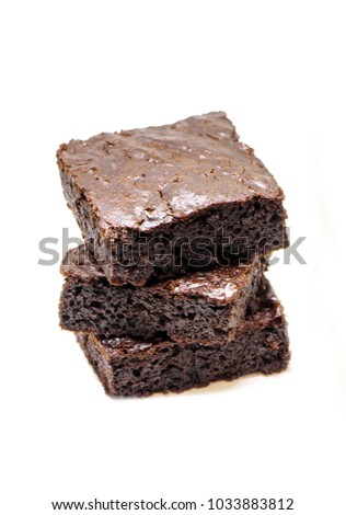 Chocolate brownie. Homemade baking. Selective focus.  #1033883812