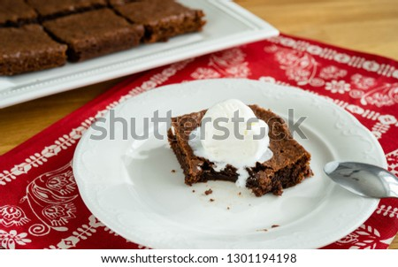 Chocolate brownie portions