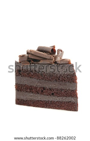 Chocolate Cake isolated in white background