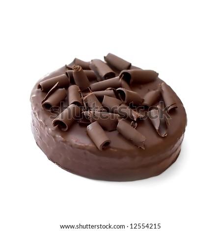 chocolate cake isolated on white background #12554215