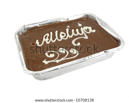 chocolate cake isolated over white background