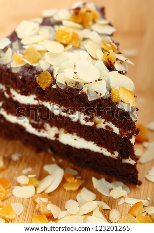 Chocolate Cake with Almonds and Candied Orange Peel