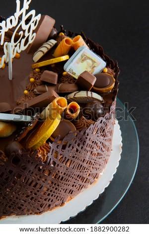 Chocolate Cake with choco Deko Stok fotoğraf ©