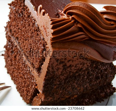 Chocolate cake with rich icing