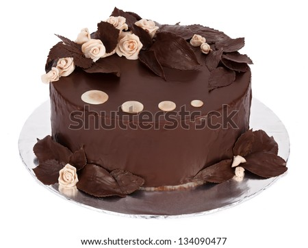 Round Chocolate Cake Decorating Ideas : Chocolate Cake With White Marzipan And Chocolate Covered ...