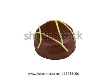 chocolate candie isolated over white