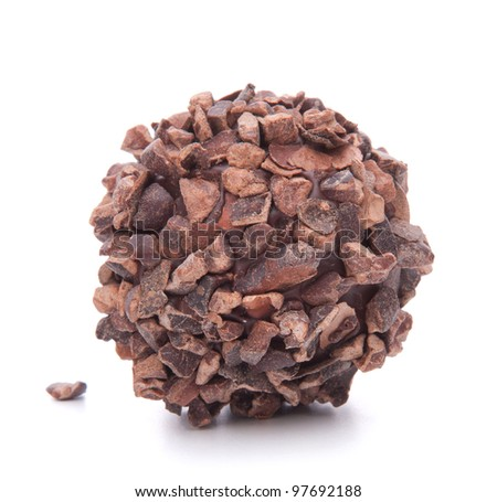 Chocolate candy isolated on white background cutout
