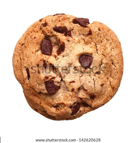 Chocolate Chip Cookie isolated on white