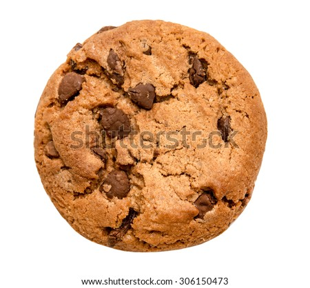 Shutterstock chocolate chip cookie isolated on white background