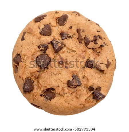 Chocolate chip cookie isolated on white background Сток-фото ©