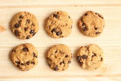 chocolate chip cookies multiple angel photoshot