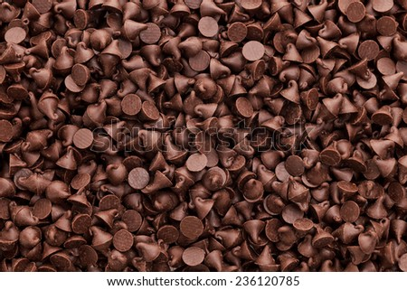 Chocolate chips background Stock photo ©