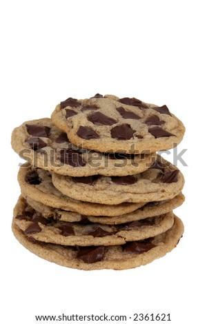 chocolate chunk cookies, home made