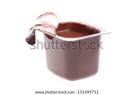 chocolate dessert isolated on white