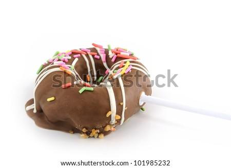 chocolate donut isolated on white background