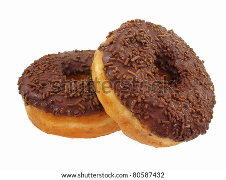 Chocolate Doughnuts Stacked