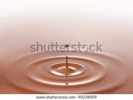chocolate drink or chocolate milk drop created ripple