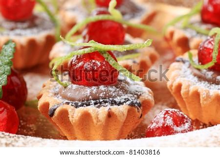 Chocolate filled tartlets