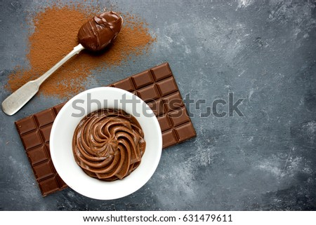 Chocolate frosting or chocolate cream
