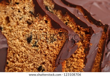 Chocolate Gingerbread Cake with Dried Prunes