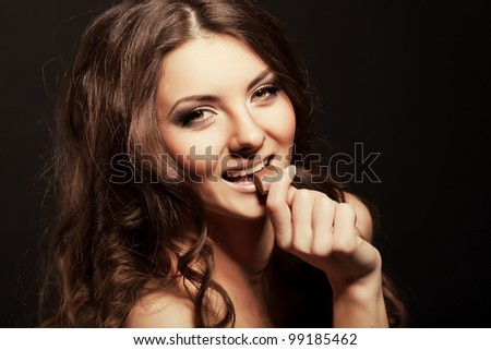stock photo chocolate girl sexy girl with a chocolate 99185462 In Rock 'n Rolla he played gay gangster ...