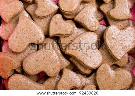 Chocolate heart shaped cookies