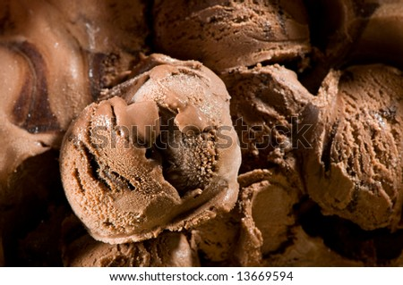 Chocolate ice cream close-up